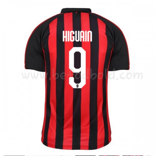 AC Milan 2018-19 Gonzalo Higuain 9 Short Sleeve Home Soccer Jersey