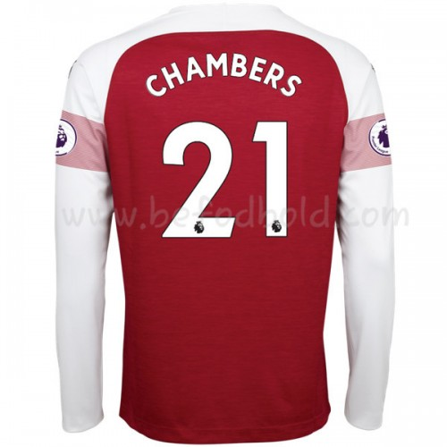 Arsenal 2018-19 Calum Chambers 21 Long Sleeve Home Soccer Jersey