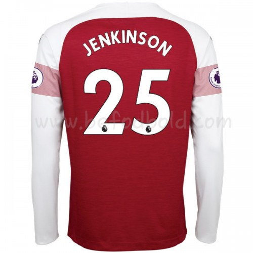 Arsenal 2018-19 Carl Jenkinson 25 Long Sleeve Home Soccer Jersey