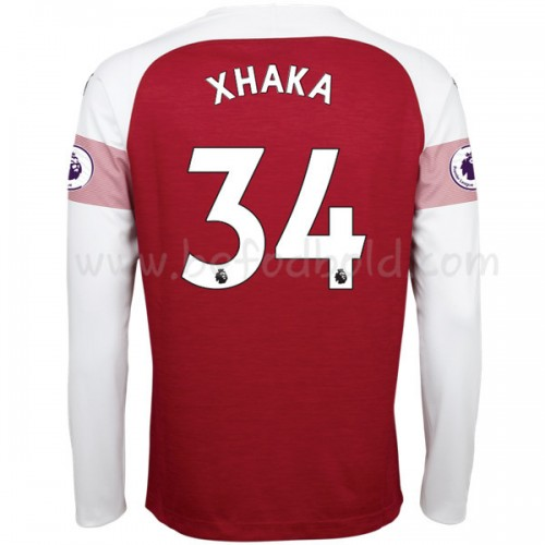Arsenal 2018-19 Granit Xhaka 34 Long Sleeve Home Soccer Jersey