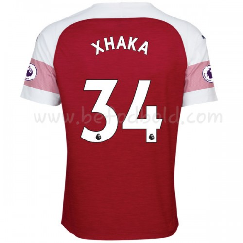 Arsenal 2018-19 Granit Xhaka 34 Short Sleeve Home Soccer Jersey