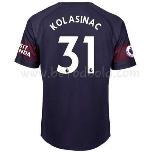Arsenal 2018-19 Sead Kolasinac 31 Short Sleeve Away Soccer Jersey