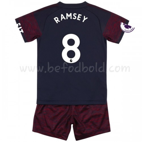 Arsenal Kids 2018-19 Aaron Ramsey 8 Short Sleeve Away Soccer Jersey