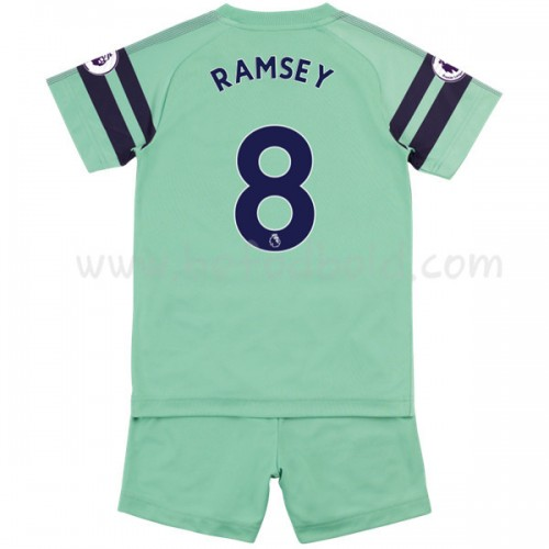 Arsenal Kids 2018-19 Aaron Ramsey 8 Short Sleeve Third Soccer Jersey