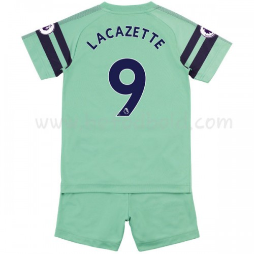 Arsenal Kids 2018-19 Alexandre Lacazette 9 Short Sleeve Third Soccer Jersey