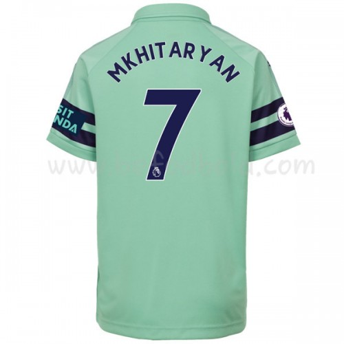 Arsenal Kids 2018-19 Henrikh Mkhitaryan 7 Short Sleeve Third Soccer Jersey