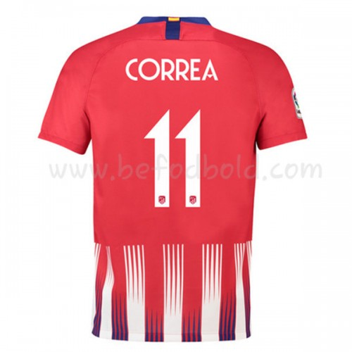 Atletico Madrid 2018-19 Angel Correa 11 Short Sleeve Home Soccer Jersey