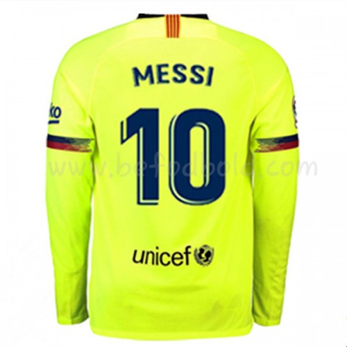 Barcelona 2018-19 Lionel Messi 10 Long Sleeve Away Soccer Jersey