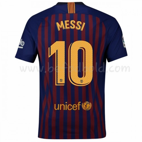 Barcelona 2018-19 Lionel Messi 10 Short Sleeve Home Soccer Jersey