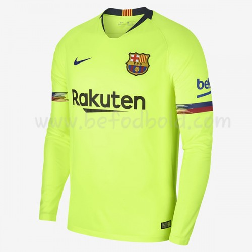 Barcelona 2018-19 Long Sleeve Away Soccer Jersey