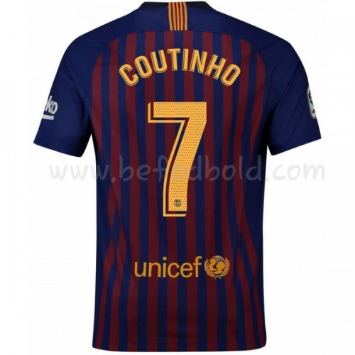 Barcelona 2018-19 Philippe Coutinho 7 Short Sleeve Home Soccer Jersey