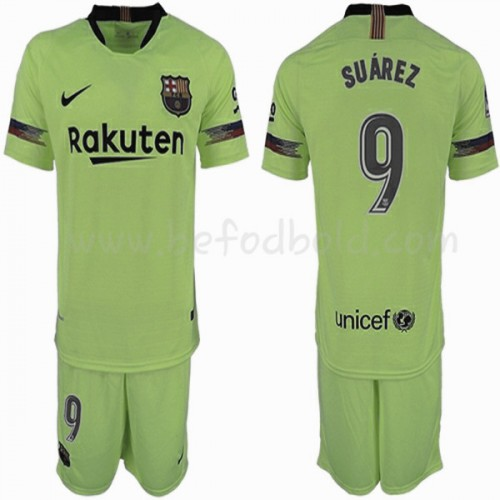 Barcelona Kids 2018-19 Luis Suarez 9 Short Sleeve Away Soccer Jersey