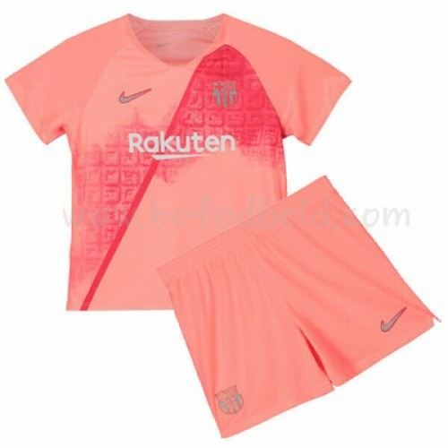 Barcelona Kids 2018-19 Short Sleeve Third Soccer Jersey