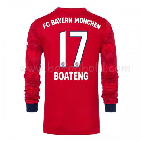 Bayern Munich 2018-19 Jerome Boateng 17 Long Sleeve Home Soccer Jersey
