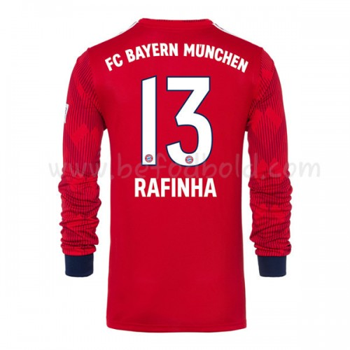 Bayern Munich 2018-19 Rafinha 13 Long Sleeve Home Soccer Jersey