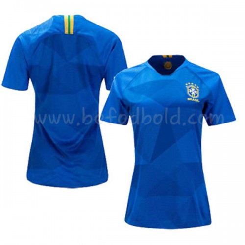 Brazil Womens 2018 World Cup Short Sleeve Away Soccer Jersey
