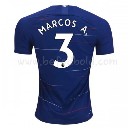 Chelsea 2018-19 Marcos Alonso 3 Short Sleeve Home Soccer Jersey