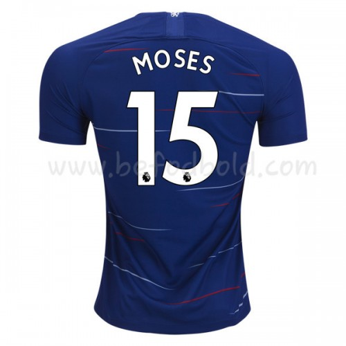 Chelsea 2018-19 Victor Moses 15 Short Sleeve Home Soccer Jersey