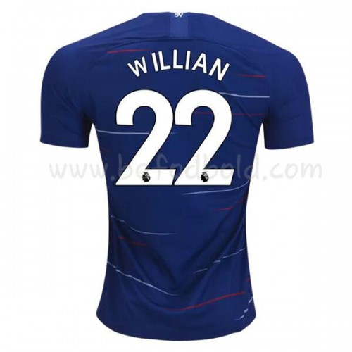 Chelsea 2018-19 Willian Borges da Silva 22 Short Sleeve Home Soccer Jersey
