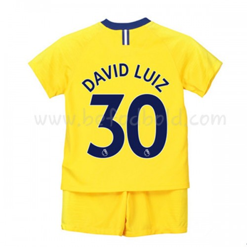 Chelsea Kids 2018-19 David Luiz 30 Short Sleeve Away Soccer Jersey