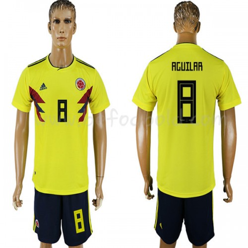 Colombia 2018 Abel Aguilar 8 Short Sleeve Home Soccer Jersey