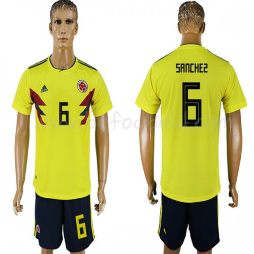 Colombia 2018 Carlos Sanchez 6 Short Sleeve Home Soccer Jersey