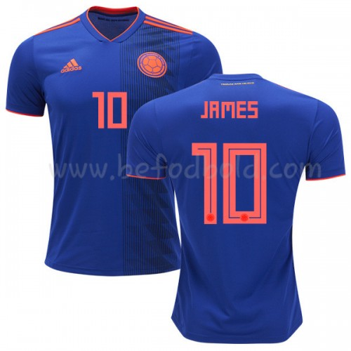 Colombia 2018 James Rodriguez 10 Short Sleeve Away Soccer Jersey