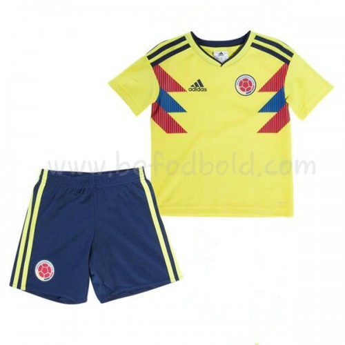 Colombia Kids 2018 World Cup Short Sleeve Home Soccer Jersey