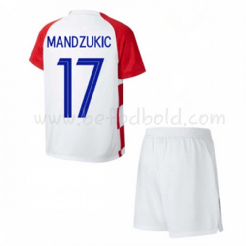 Croatia Kids 2018 World Cup Mandzukic 17 Short Sleeve Home Soccer Jersey