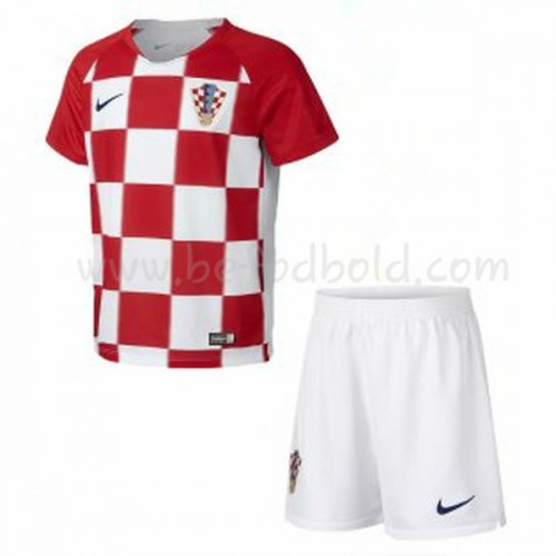 Croatia Kids 2018 World Cup Short Sleeve Home Soccer Jersey