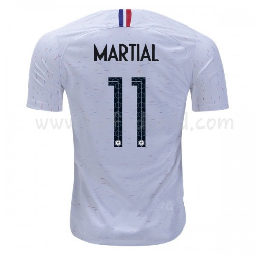 France 2018 Anthony Martial 11 Short Sleeve Away Soccer Jersey