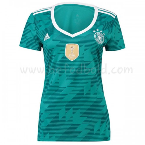 Germany Womens 2018 World Cup Short Sleeve Away Soccer Jersey