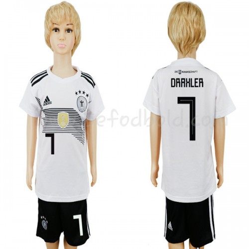 Germany Kids 2018 World Cup Julian Draxler 7 Short Sleeve Home Soccer Jersey