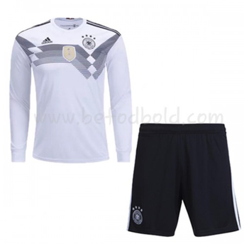Germany Kids 2018 World Cup Long Sleeve Home Soccer Jersey