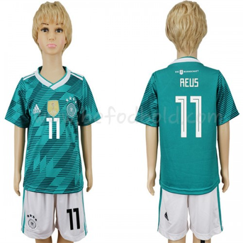 Germany Kids 2018 World Cup Marco Reus 11 Short Sleeve Away Soccer Jersey