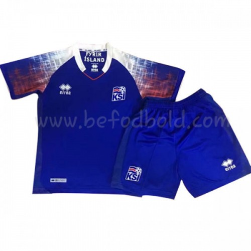 Iceland Kids 2018 World Cup Short Sleeve Home Soccer Jersey