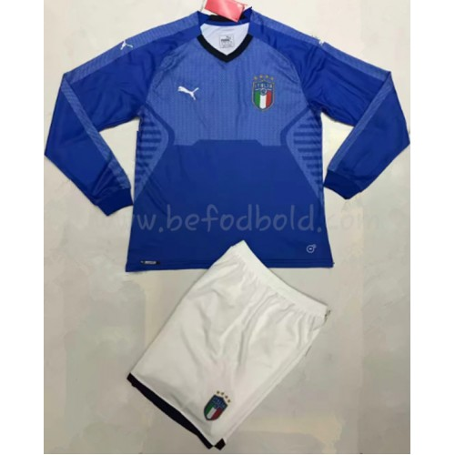 Italy Kids 2018 Long Sleeve Home Soccer Jersey
