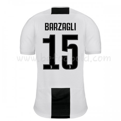 Juventus 2018-19 Andrea Barzagli 15 Short Sleeve Home Soccer Jersey