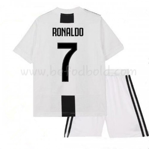 Juventus Kids 2018-19 Cristiano Ronaldo 7 Short Sleeve Home Soccer Jersey