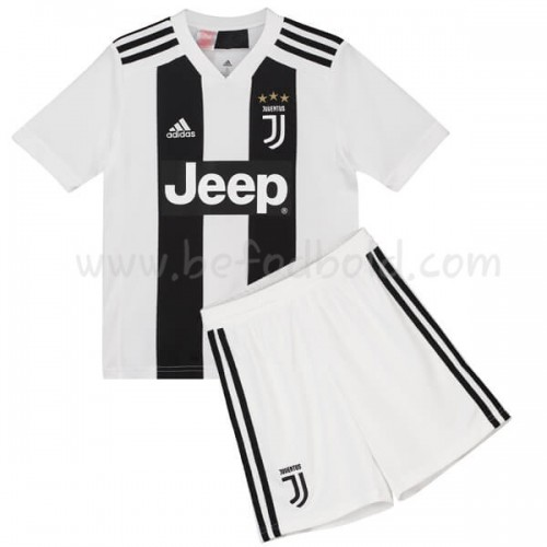 Juventus Kids 2018-19 Short Sleeve Home Soccer Jersey