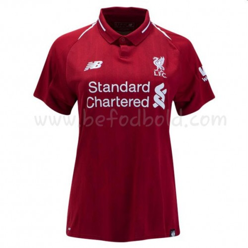 Liverpool Womens 2018-19 Short Sleeve Home Soccer Jersey