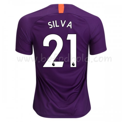 Manchester City 2018-19 David Silva 21 Short Sleeve Third Soccer Jersey