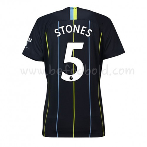 Manchester City 2018-19 John Stones 24 Short Sleeve Away Soccer Jersey