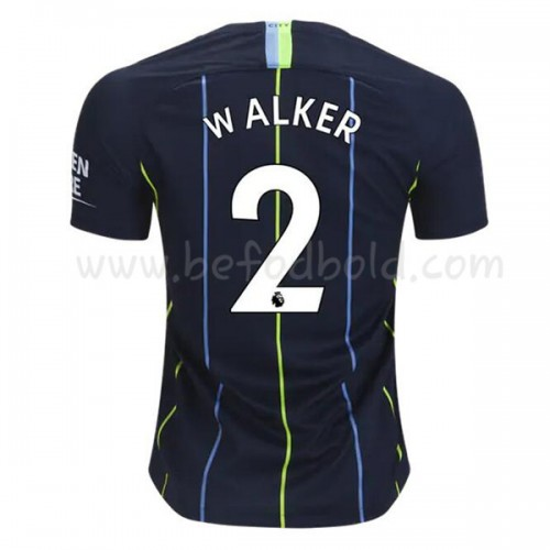 Manchester City 2018-19 Kyle Walker 2 Short Sleeve Away Soccer Jersey