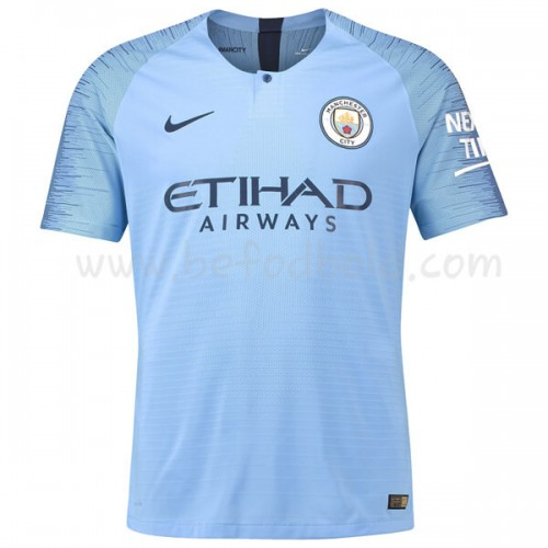 Manchester City 2018-19 Short Sleeve Home Soccer Jersey