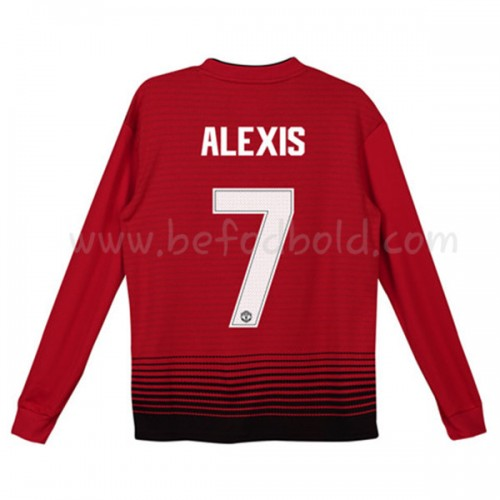 Manchester United Kids 2018-19 Alexis Sanchez 7 Long Sleeve Home Soccer Jersey