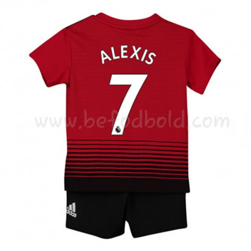 Manchester United Kids 2018-19 Alexis Sanchez 7 Short Sleeve Home Soccer Jersey