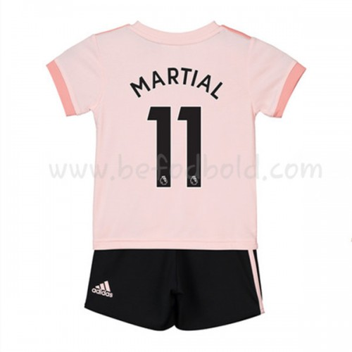 Manchester United Kids 2018-19 Anthony Martial 11 Short Sleeve Away Soccer Jersey