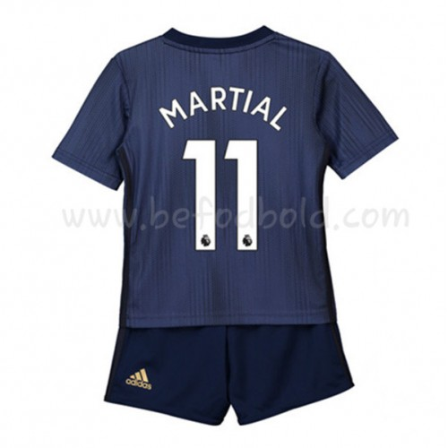 Manchester United Kids 2018-19 Anthony Martial 11 Short Sleeve Third Soccer Jersey