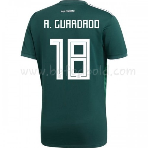 Mexico 2018 Andres Guardado 18 Short Sleeve Home Soccer Jersey